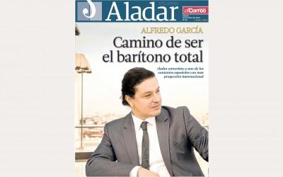 El suplemento cultural Aladar dedica portada y entrevista a Alfredo García